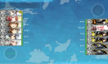 5-1駆逐艦6隻突撃ボス戦昼戦