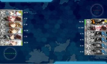 5-1駆逐艦6隻突撃ボス夜戦終了