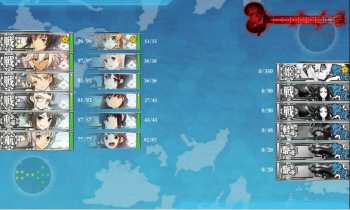 E-3ボス昼戦1戦目終了