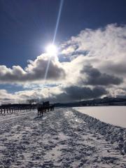20151230 新雪は脚に負担がかからず^^b