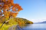 屈斜路湖の秋