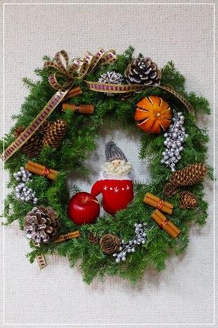クリスマスリースを作ったよ!