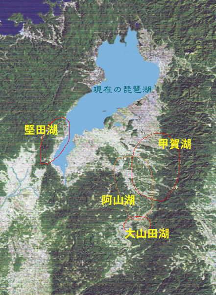 琵琶湖の 移動
