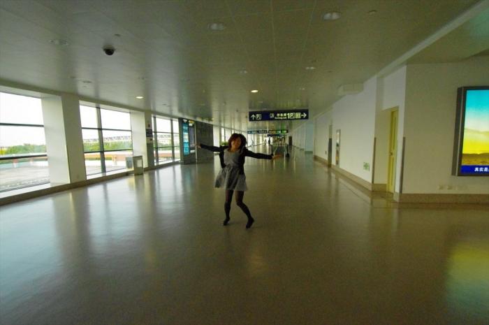 上海空港にて (6)