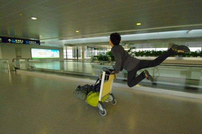 上海空港にて (15)