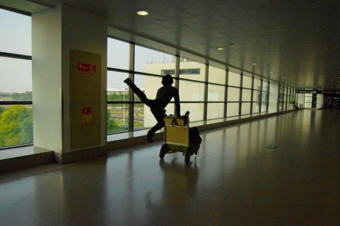 上海空港にて (12)