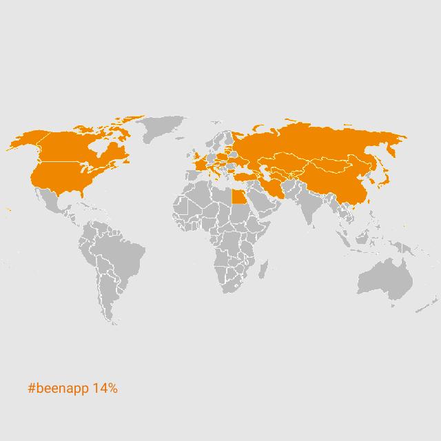 世界地図been