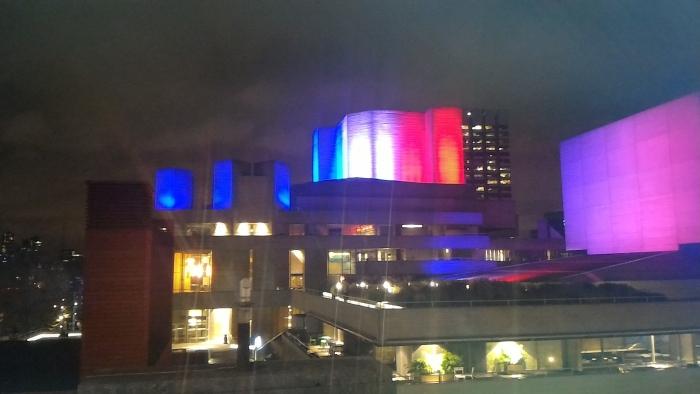 ロンドンの夜景(フランス国旗)