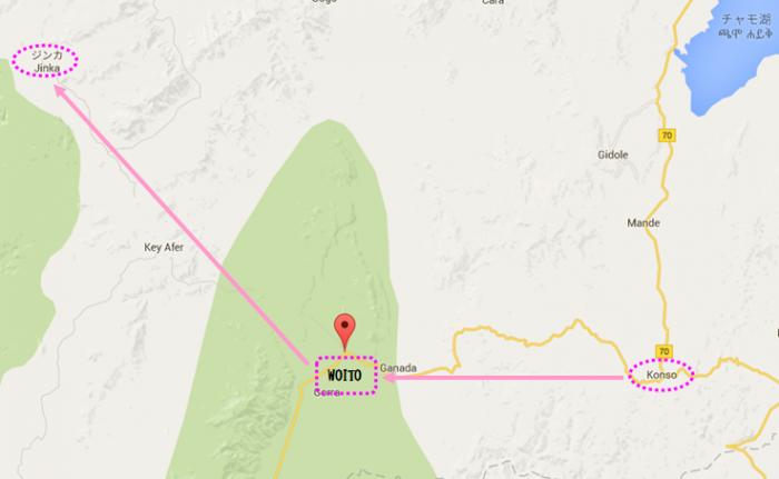 エチオピア南部マップ