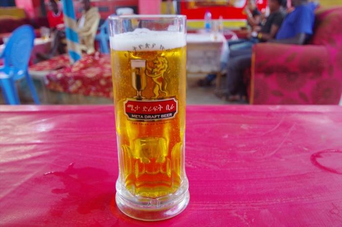 コンソでビール
