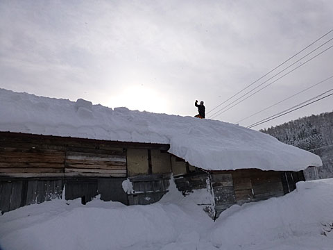 16 1/24 雪下ろし スタート