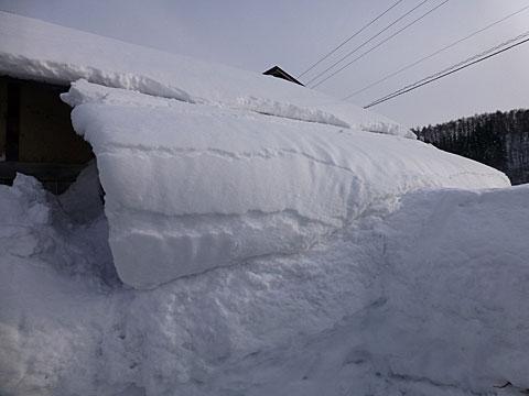 16 2/20 納屋 雪落ち