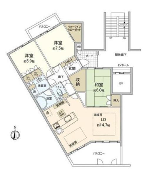 ■物件番号4290 パシフィックガーデン茅ヶ崎!ついに賃貸で登場!B棟205号室!85平米!3LDK!20万円!