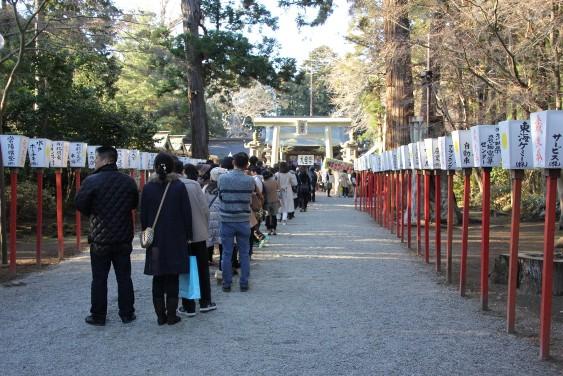 初詣の長蛇の列