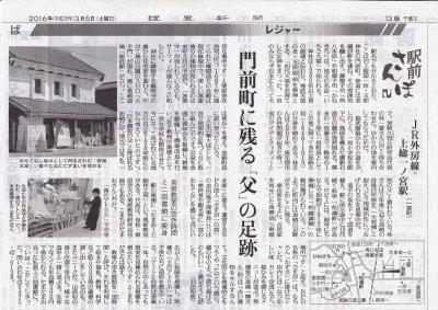 2016年3月5日 読売新聞 駅前さんぽ 青のアトリエ紹介_R