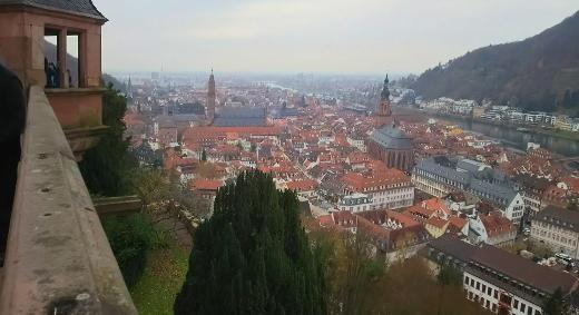 城のテラスからの眺望