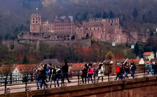 ハイデルベルクの城と橋