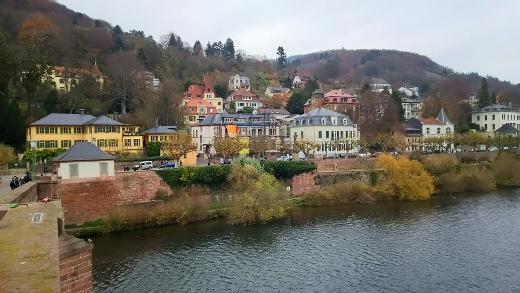 絵になる対岸の家々