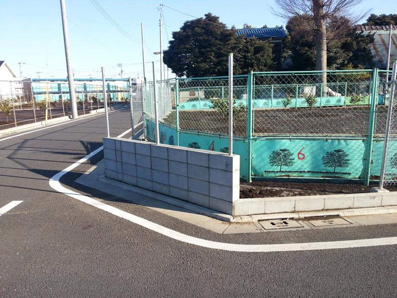 フェンス⇒ブロック塀