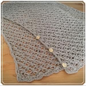 写真 七宝編みのマーガレット 正方形