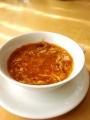 上海ガニのミソ入りふかひれスープ