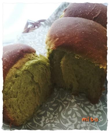 青汁とスピルリナのパン・ド・ミ1