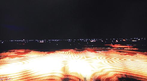 田舎館村スノーアート製作過程-10