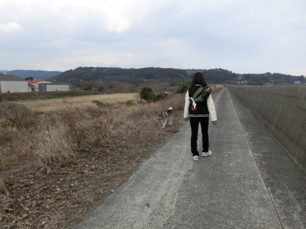 サイズ変換_サイズ変換_お姉ちゃんと散歩