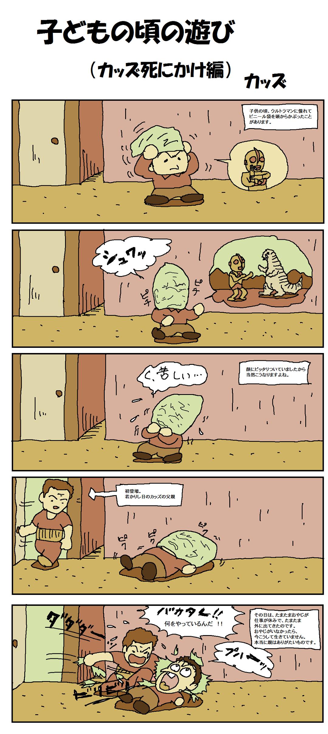 子どもの頃の遊び(カッズ死にかけ編)