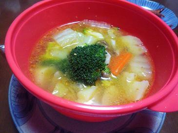 ごま油野菜スープ