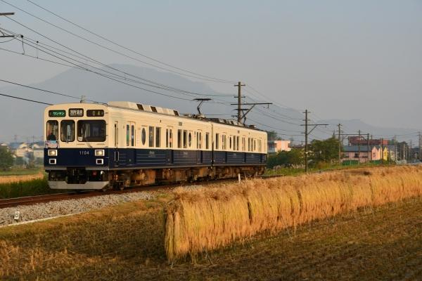 2015年10月10日 上田電鉄別所線 大学前~下之郷 1000系1004編成