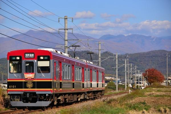 2015年10月31日 上田電鉄別所線 舞田~八木沢 6000系6001編成