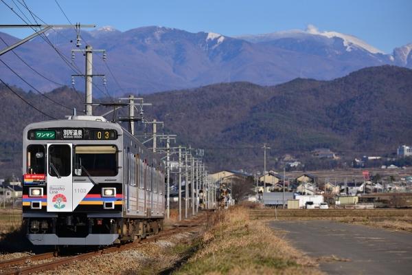 2015年12月7日 上田電鉄別所線 舞田~八木沢 1000系1003編成