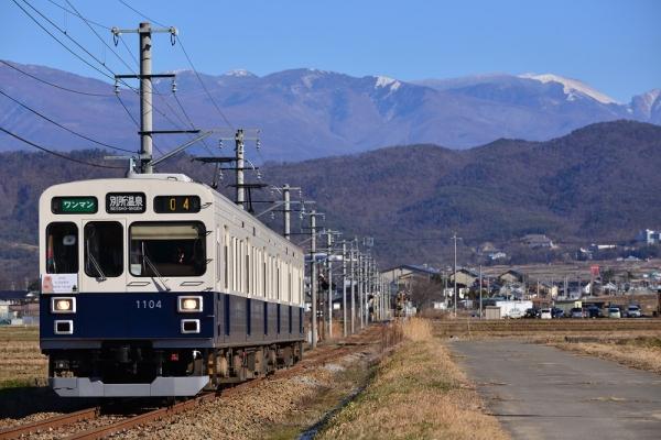 2016年1月1日 上田電鉄別所線 舞田~八木沢 1000系1004編成