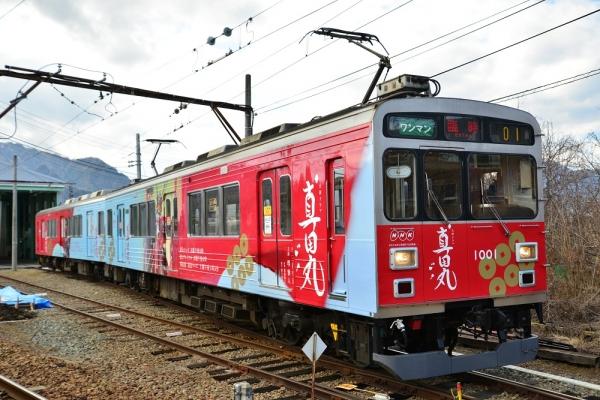 2016年2月21日 上田電鉄別所線 下之郷 1000系1001編成