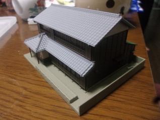 切り妻造りの町屋