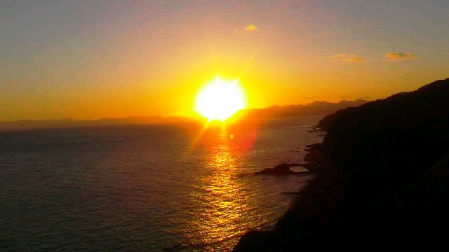 青森 竜飛岬の日の出