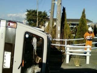 西島病院帰り目撃した交通事故現場デジカメ写真