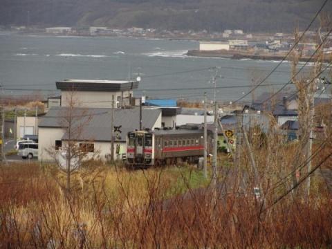 箸別駅付近