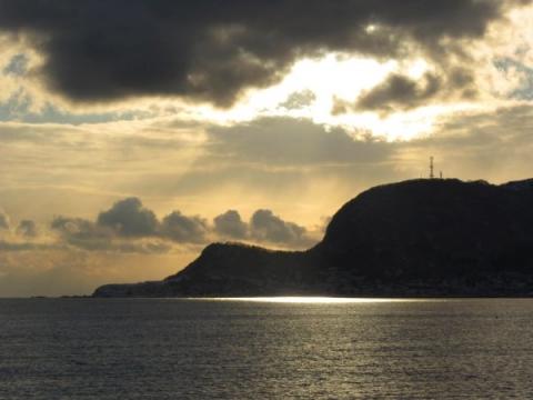 啄木小公園から立待岬を望む