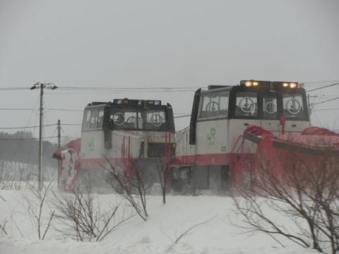 留萌本線大和田駅~藤山駅間にて