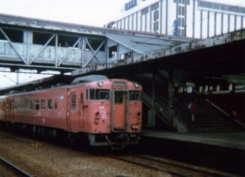 昭和57年(1982年)8月旭川駅にて