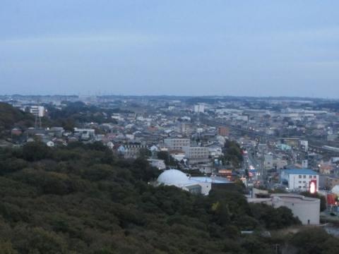 岩屋山山頂より二川宿を望む