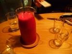 赤ドラゴンフルーツのジュース.