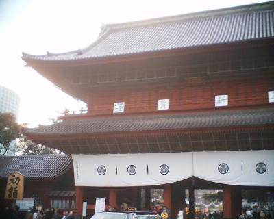 新春の増上寺三解脱門:R2
