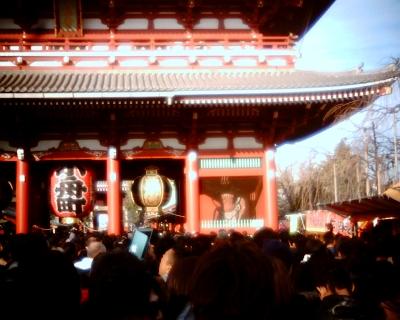 人混みの初詣・浅草寺:Entry