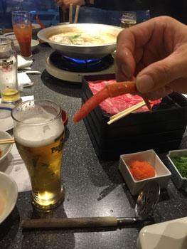 160102 しゃぶしゃぶ&カニ食べ放題
