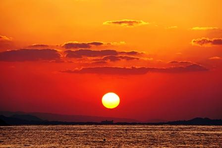 夕陽-2月8日 DSC04062