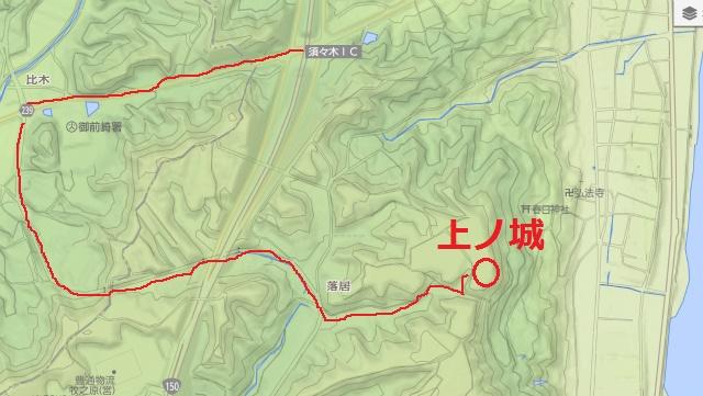 上ノ城アクセス