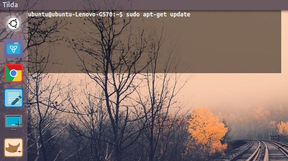 Tilda Ubuntu ドロップダウン 端末エミュレータ